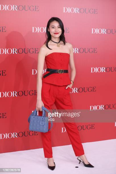Model Lela Wang Shiqing attends Dior Rouge event on October 25, 2020 in Shanghai, China.