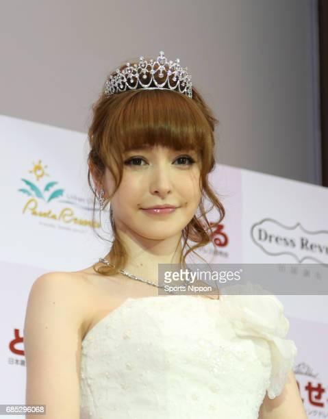 Model Lena Fujii attends Dres Sale opening ceremony on June 5 2014 in Tokyo Japan