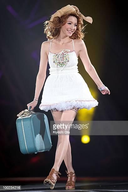 Model Lena Fujii walks on the runway during the Girls Award 2010 at Yoyogi National Gymnasium on May 22 2010 in Tokyo Japan