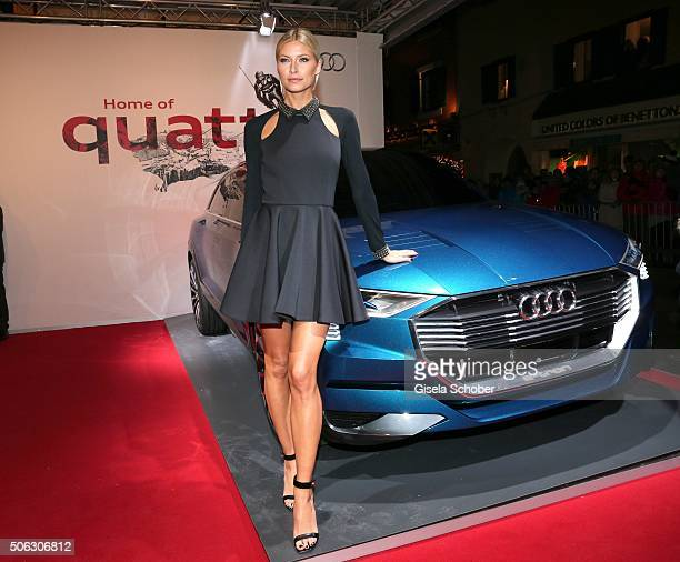 Model Lena Gercke attends the AUDI Night 2016 during Hahnenkamm Race Weekend on January 22 2016 in Kitzbuehel Austria