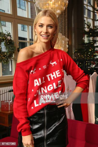 Model Lena Gercke during the presentation of her Christmas Sweater Collection for ABOUT YOU on November 8 2017 in Hamburg Germany