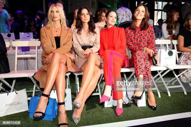 Model Lena Gercke Lena MeyerLandrut Emilia Schuele and Janina Uhse during the Marc Cain Fashion Show Spring/Summer 2018 at ewerk on July 4 2017 in...
