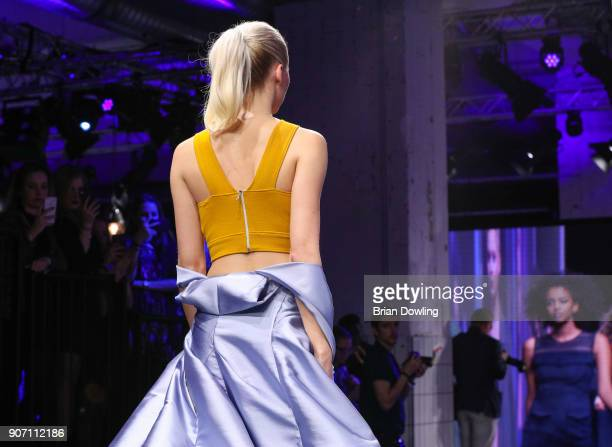Model Lena Gercke walks the runway during the Maybelline Show 'Urban Catwalk Faces of New York' at Vollgutlager on January 18 2018 in Berlin Germany