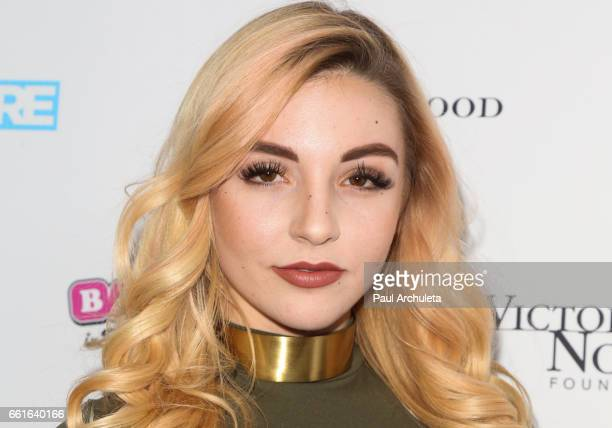 Model Lena Martinson attends the 3rd annual Babes In Toyland pet edition at Boulevard3 on March 30 2017 in Hollywood California