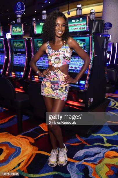 Model Leomie Anderson attends HQ2 Opening Night at Ocean Resort Casino on June 29 2018 in Atlantic City New Jersey