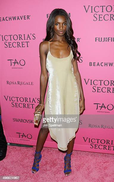 Model Leomie Anderson attends the 2015 Victoria's Secret Fashion Show after party at TAO Downtown on November 10 2015 in New York City