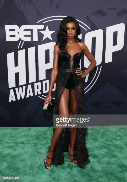 Model Leomie Anderson attends the BET Hip Hop Awards 2017 at The Fillmore Miami Beach at the Jackie Gleason Theater on October 6 2017 in Miami Beach...