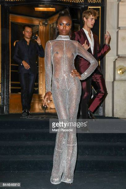 Model Leomie Anderson is seen on September 8 2017 in New York City