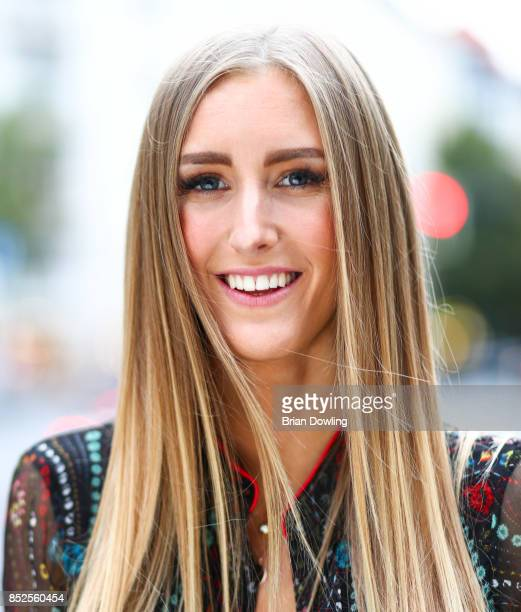 Model Leslie Huhn attends the Influencer event 'Create Your New Look' hosted by Udo Walz on September 23 2017 at the Udo Walz Salon in Berlin Germany