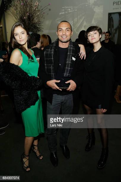 Model Leticia Guede Leonardo S Gomes and model Stefanie Medeiros attend The Industry MGMT and The Industry Model MGMT Launch hosted by the Art...
