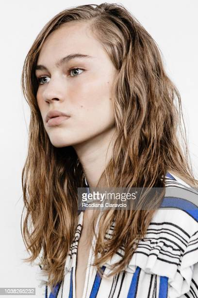 Model Lex Herl is seen backstage ahead of the Philosophy Di Lorenzo Serafini show during Milan Fashion Week Spring/Summer 2019 on September 22 2018...