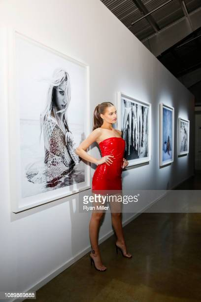 Model Lexi Wood at the launch of fashion and celebrity photographer Adam Franzino's MUSES a fine art photography exhibition presented by Vernissage...