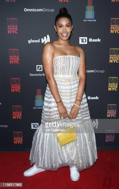 Model Leyna Bloom attends GameChangers WorldPride NYC 2019 at SVA Theater on June 25 2019 in New York City