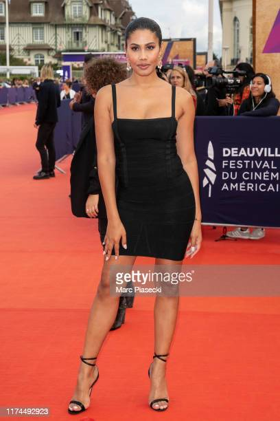Model Leyna Bloom attends the Tribute to Kristen Stewart during the 45th Deauville American Film Festival on September 13 2019 in Deauville France