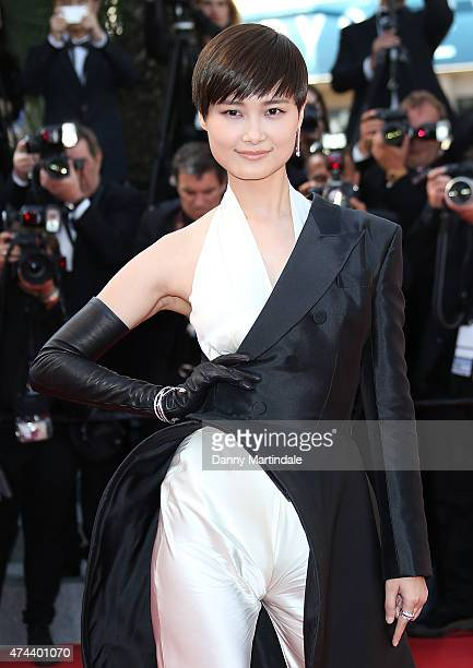 Model Li Yuchun attends the 'Little Prince' Premiere during the 68th annual Cannes Film Festival on May 22 2015 in Cannes France