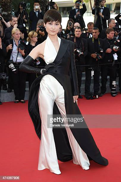 Model Li Yuchun attends the Premiere of 'The Little Prince' during the 68th annual Cannes Film Festival on May 22 2015 in Cannes France