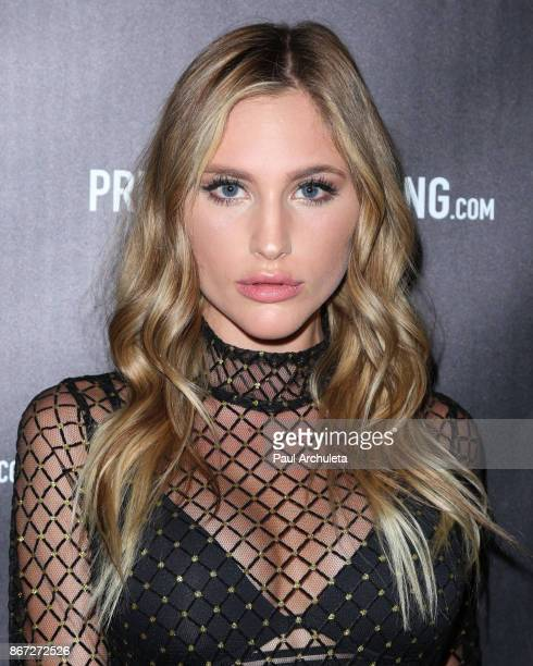 Model Liberty Netuschil attends the PrettyLittleThing by Kourtney Kardashian launch party on October 25 2017 in Los Angeles California