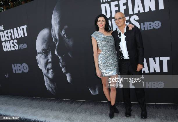 Model Liberty Ross and Producer Jimmy Iovine attend the Premiere of HBO's 'The Defiant Ones' at Paramount Theatre on June 22 2017 in Hollywood...
