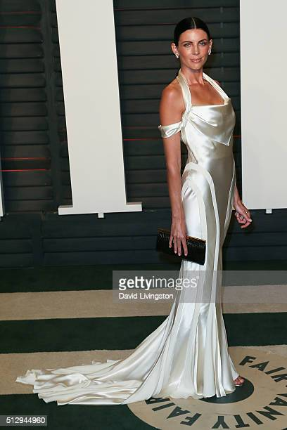 Model Liberty Ross arrives at the 2016 Vanity Fair Oscar Party Hosted by Graydon Carter at the Wallis Annenberg Center for the Performing Arts on...