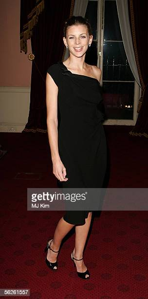 Model Liberty Ross arrives at the private view and champagne reception for 'Diana Princess Of Wales By Mario Testino' at Kensington Palace on...