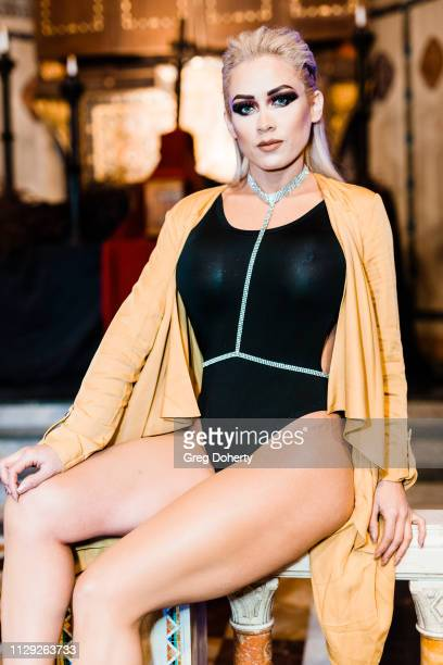 Model Licbeth Marrufo attends Sanctuary Fashion Week on March 7 2019 in Los Angeles California