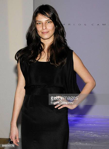 Model Liliana Dominguez attends Carlos Campos Fall 2009 during MercedesBenz Fashion Week at The Altman Building on February 15 2009 in New York City