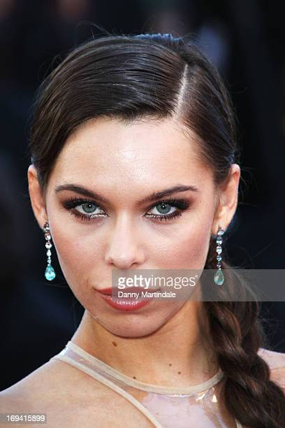 Model Liliana Matthaeus attends the Premiere of 'The Immigrant' at The 66th Annual Cannes Film Festival at Palais des Festivals on May 24 2013 in...