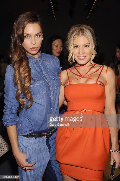 Model Liliana Matthaus and actress/media personality Hofit Golan attend the Vivienne Tam show during Spring 2014 MercedesBenz Fashion Week at The...