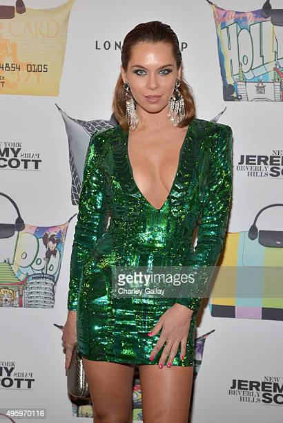 Model Liliana Nova attends the Jeremy Scott for Longchamp 10th Anniversary held at a Private Residence on November 5 2015 in Beverly Hills California