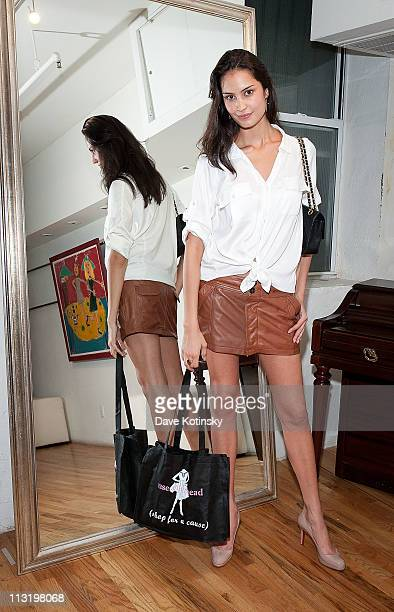 Model Liliana Queiroz attends Shop for a Cause at Use Your Head on April 26 2011 in New York City