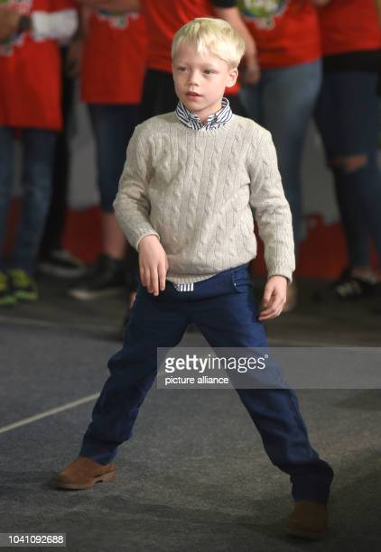 Model Lilly Becker's son Amadeus poses during a campaign by the 'kinder' brand of sweets manufacturer Ferrero on teh occasion of Universal Children's...