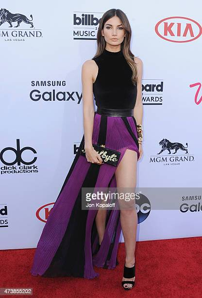 Model Lily Aldridge arrives at the 2015 Billboard Music Awards at MGM Garden Arena on May 17, 2015 in Las Vegas, Nevada.