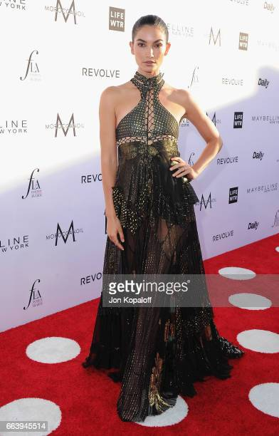 Model Lily Aldridge arrives at the Daily Front Row's 3rd Annual Fashion Los Angeles Awards at the Sunset Tower Hotel on April 2 2017 in West...