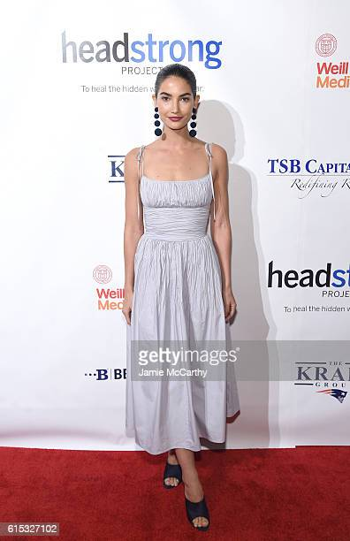 Model Lily Aldridge attends Headstrong Project Words Of War Gala at Pier 60 on October 17 2016 in New York City