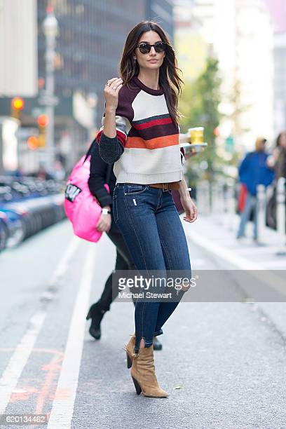 Model Lily Aldridge attends the 2016 Victoria's Secret Fashion Show model fittings on November 1 2016 in New York City