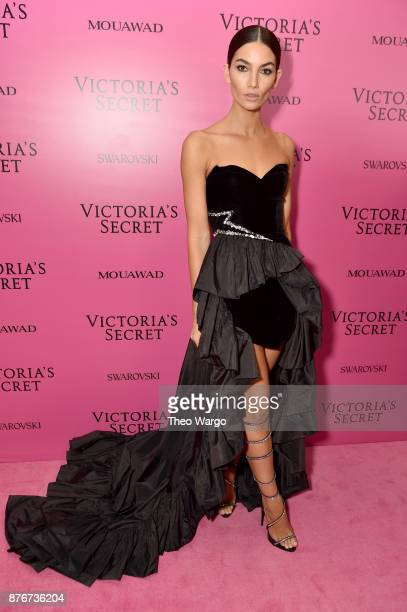 Model Lily Aldridge attends the 2017 Victoria's Secret Fashion Show In Shanghai After Party at MercedesBenz Arena on November 20 2017 in Shanghai...