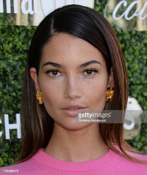 Model Lily Aldridge attends The Couture Council of The Museum at the Fashion Institute of Technology hosted luncheon honoring Michael Kors with the...