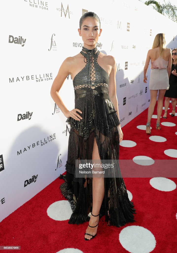 Model Lily Aldridge attends the Daily Front Row's 3rd Annual Fashion Los Angeles Awards at Sunset Tower Hotel on April 2, 2017 in West Hollywood, California.