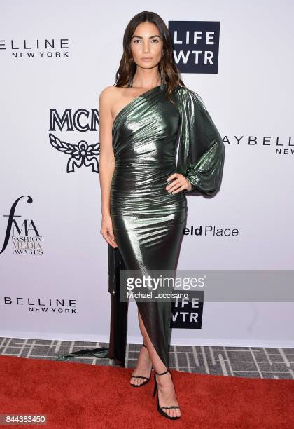 Model Lily Aldridge attends the Daily Front Row's Fashion Media Awards at Four Seasons Hotel New York Downtown on September 8 2017 in New York City