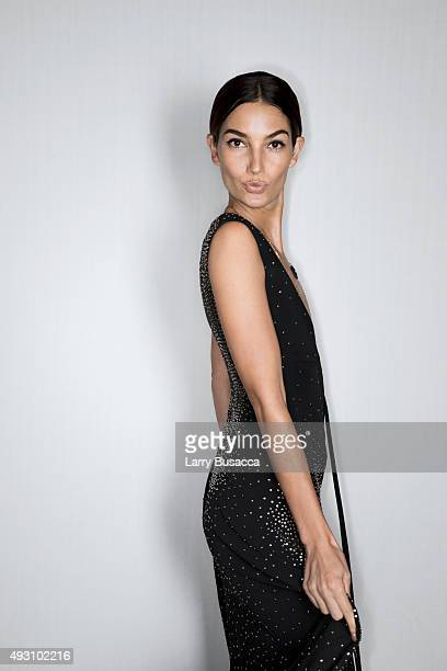 Model Lily Aldridge attends The Daily Front Row's Third Annual Fashion Media Awards at the Park Hyatt New York on September 10 2015 in New York City