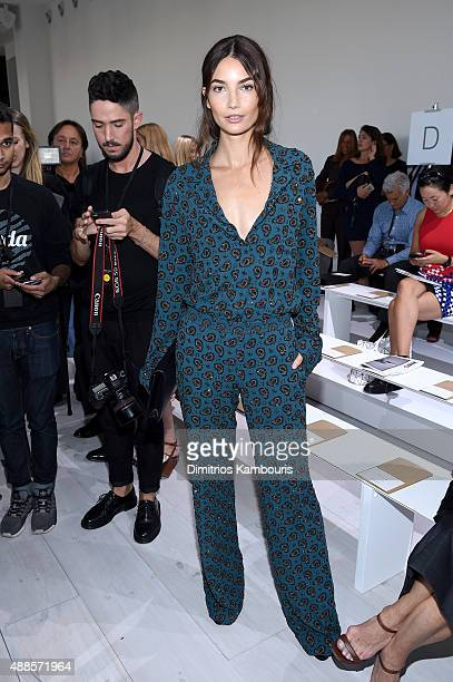 Model Lily Aldridge attends the Michael Kors Spring 2016 Runway Show during New York Fashion Week The Shows at Spring Studios on September 16 2015 in...