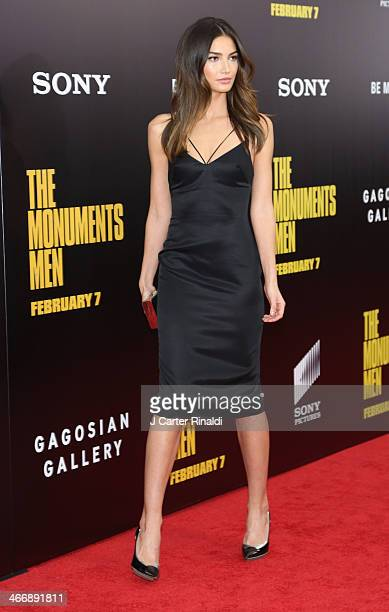 Model Lily Aldridge attends The Monuments Men premiere at Ziegfeld Theater on February 4 2014 in New York City