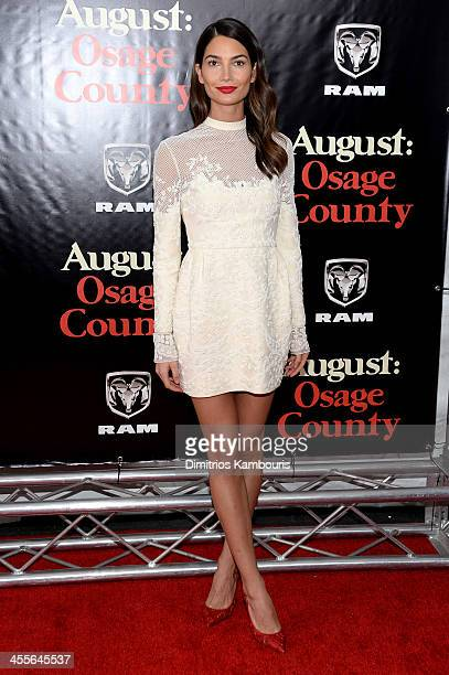 Model Lily Aldridge attends the premiere of AUGUST:OSAGE COUNTY presented by The Weinstein Company with Ram Trucks on December 12, 2013 in New York...