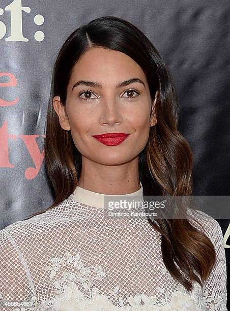 Model Lily Aldridge attends the premiere of AUGUSTOSAGE COUNTY presented by The Weinstein Company with Ram Trucks on December 12 2013 in New York City