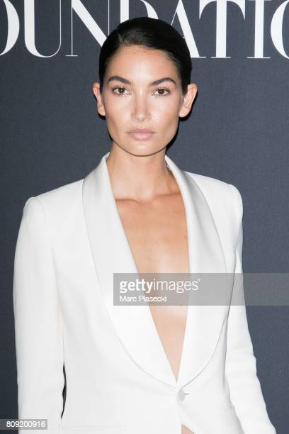 Model Lily Aldridge attends Vogue Foundation Dinner during Paris Fashion Week as part of Haute Couture Fall/Winter 20172018 at Musee Galliera on July...