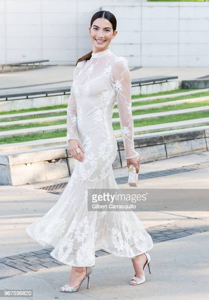 Model Lily Aldridge is seen arriving to the 2018 CFDA Fashion Awards at Brooklyn Museum on June 4, 2018 in New York City.