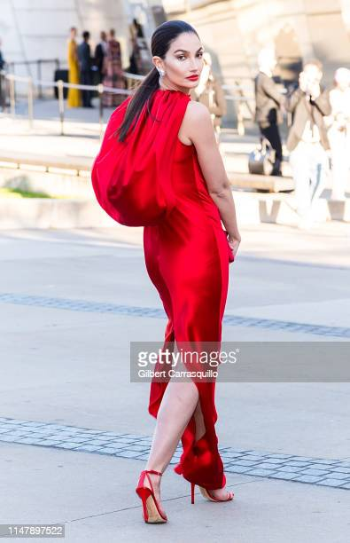 Model Lily Aldridge is seen arriving to the 2019 CFDA Fashion Awards on June 3, 2019 in New York City.