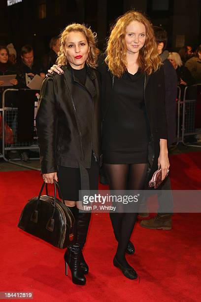 Model Lily Cole and actress Noomi Rapace attend a screening of 'Zero Theorem' during the 57th BFI London Film Festival at Odeon West End on October...
