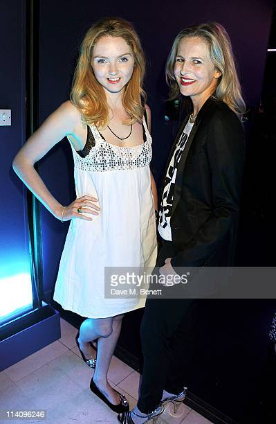 Model Lily Cole and Alannah Weston attend the launch of Project Ocean at Selfridges on May 11 2011 in London England