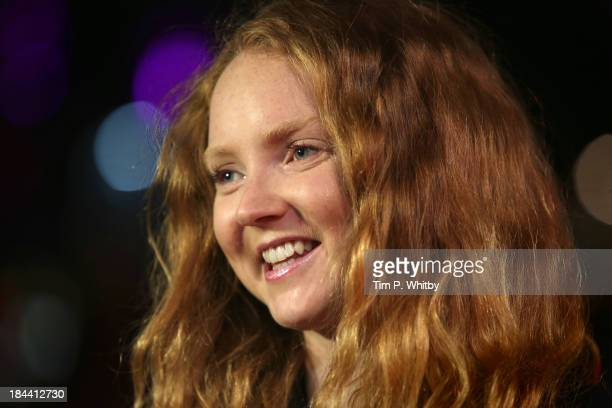 Model Lily Cole attends a screening of 'Zero Theorem' during the 57th BFI London Film Festival at Odeon West End on October 13 2013 in London England